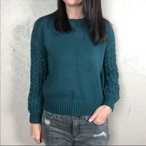 NWT Moon & Madison Cropped Chunky Knit Sweater